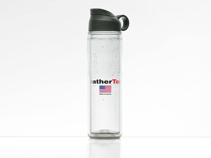 Glass Water Bottle Made in USA